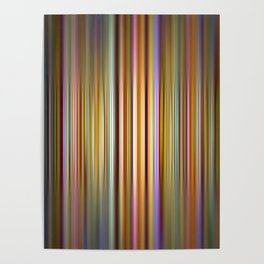Colourful stripes pattern Poster