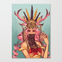 Graceful Horns Canvas Print