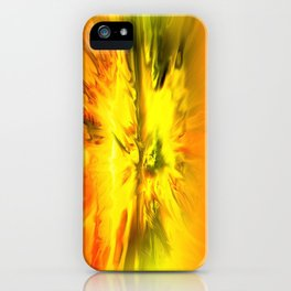 Blazing Yellow Abstract iPhone Case