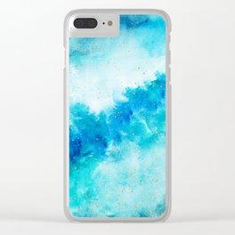 SAPPHIRE GALAXY Clear iPhone Case