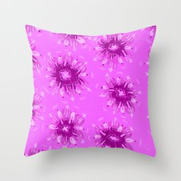 Lavender Christie Rose Throw Pillow