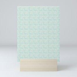 Blue Scribbles Pattern 02 Mini Art Print