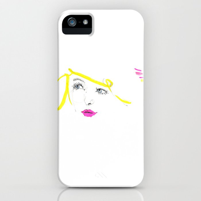 Blonde Blue iPhone Case