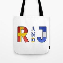 Romeo and Juliet - Navy Code Tote Bag