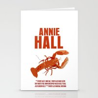 annie hall Stationery Cards featuring Annie Hall by FunnyFaceArt