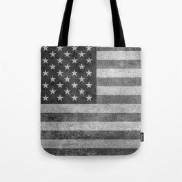 USA flag - Grayscale high quality image Tote Bag