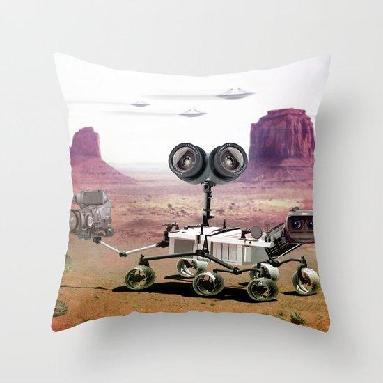 Behind you Throw Pillow