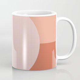 Horizon. Minimalist Geometric in Blush Pink and Terracotta Tones Coffee Mug
