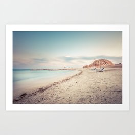 the beach  - Marsa Alam Art Print