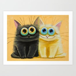 two friends Art Print