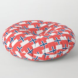 Mix of flag: norway and poland Floor Pillow