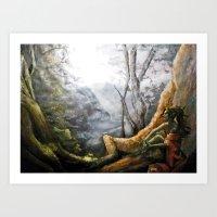 elf Art Prints featuring Elf by Cassie's Wonderland