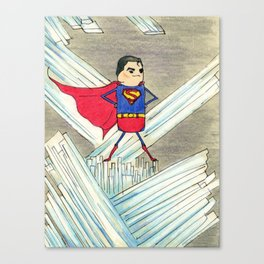 """Members"" of the Justice League: Superman Canvas Print"