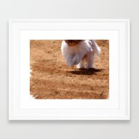 running Framed Art Prints featuring Running by Rich Okun