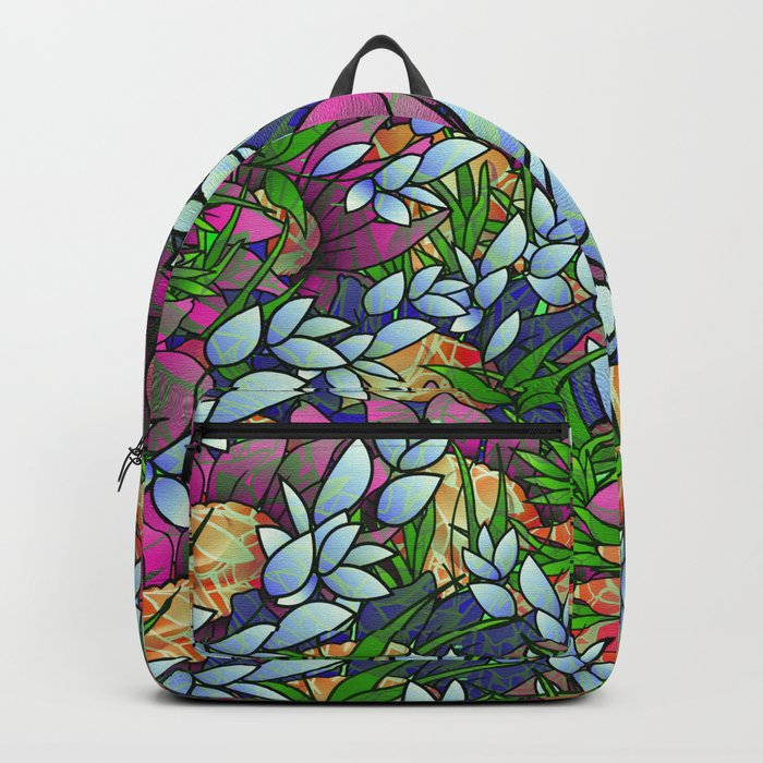 Floral Abstract Artwork G464 Backpack