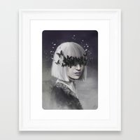 sia Framed Art Prints featuring 100 Forms of Fear / Sia by Nicolas Jamonneau