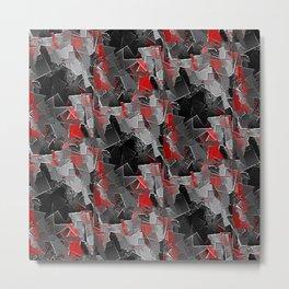 Red Tile Metal Print