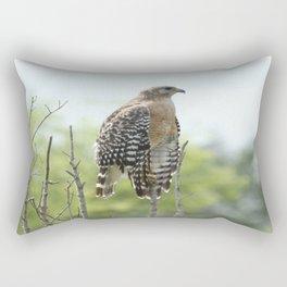 Red Shouldered Hawk Rectangular Pillow