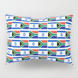 Mix of flag: Israel and south africa Pillow Sham