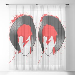 Ziggy - Bowie (Spiders from Mars) Tribute Sheer Curtain