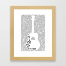 On Practicing (Guitar Poster) Framed Art Print
