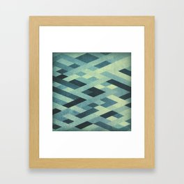 Abstract Pattern in Blue Framed Art Print