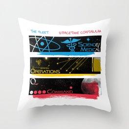 SpaceTime Continuum Throw Pillow