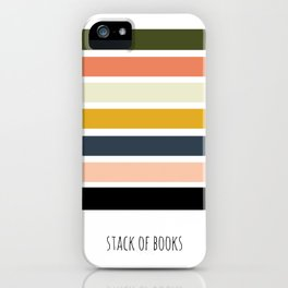 Library Love Abstract Book Stack iPhone Case