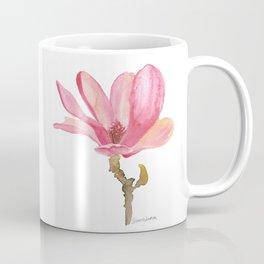 Pink Magnolia Watercolor Floral Coffee Mug