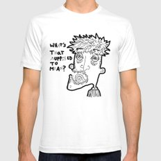 WHAT'S THAT SUPPOSED TO MEAN? SMALL White Mens Fitted Tee