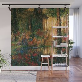 'Garden of Enchantment from Parsifal' by Thomas Mostyn Wall Mural