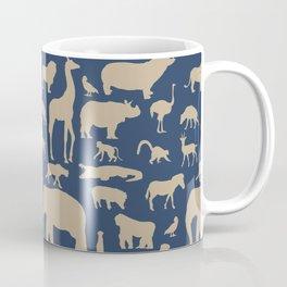 African Fauna // Khaki & Navy Coffee Mug