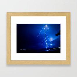 Balmoral Beach Lightning Strike II Framed Art Print