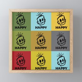 HAPPY SQUARES Framed Mini Art Print