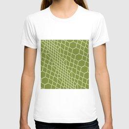 Green Snake Skin Pattern Reptile Texture Gift T-shirt