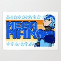 mega man Art Prints featuring Mega Man by 117 Art