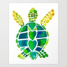 Turtle Love Art Print