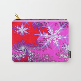 Taffy Pink-Purple-Red  Snowflakes Holiday Design  Carry-All Pouch