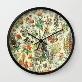 Adolphe Millot Vintage Fleurs Flower 1909 Wall Clock