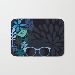 Afro Diva : Sophisticated Lady Teal Bath Mat