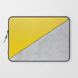 Yellow & Gray Abstract Background Laptop Sleeve