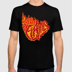 Down in Flames 2X-LARGE Mens Fitted Tee Black