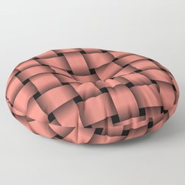 Large Salmon Pink Weave Floor Pillow