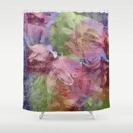 Grunge roses background Shower Curtain