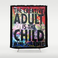 forever young Shower Curtains featuring Forever Young by Eternal