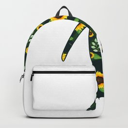 Penguin Sunflower Girl Floral Bird Hawaiian Women Gift T-Shirt Backpack