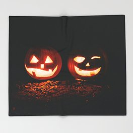 Jackolanterns Throw Blanket