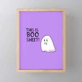 Grumpy Ghost Framed Mini Art Print