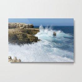 St Lucia ocean waves Metal Print