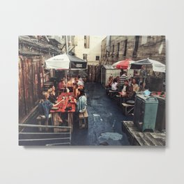 Outdoor Brunch Metal Print